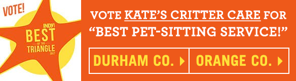 Vote Kate's Critter Care in Indy Week's Best of Poll for both Durham County and Orange Counties!