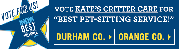 Vote Kate's Critter Care in Indy Week's 2019 Best of Poll for both Durham County and Orange Counties!